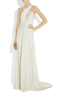 J.Crew Ivory Tricotine Fabric Sararose Destination Wedding Dress Size 4 (S)