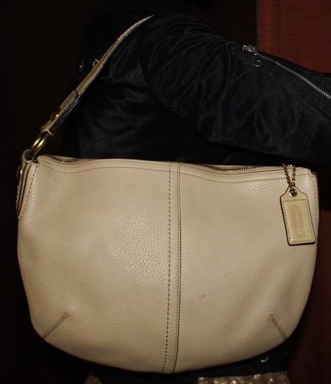 Coach Leather Pebbled Hobo Bag