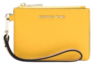 a034e9eee51155 Michael Kors Mercer Color-block Pebbled Coin Purse Sunflower Leather ...