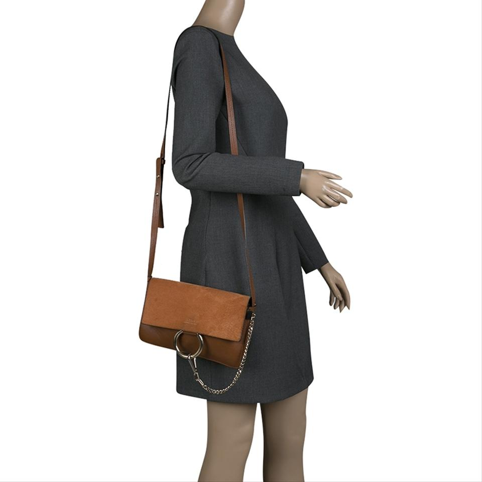 Bag Shoulder Brown Classic Faye and Tobacco Chloé Leather Small Suede z7ywqyAf