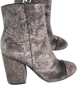 Marc Fisher Embossed Velvet Gray Boots