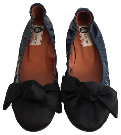 Lanvin Navy And Black Flats