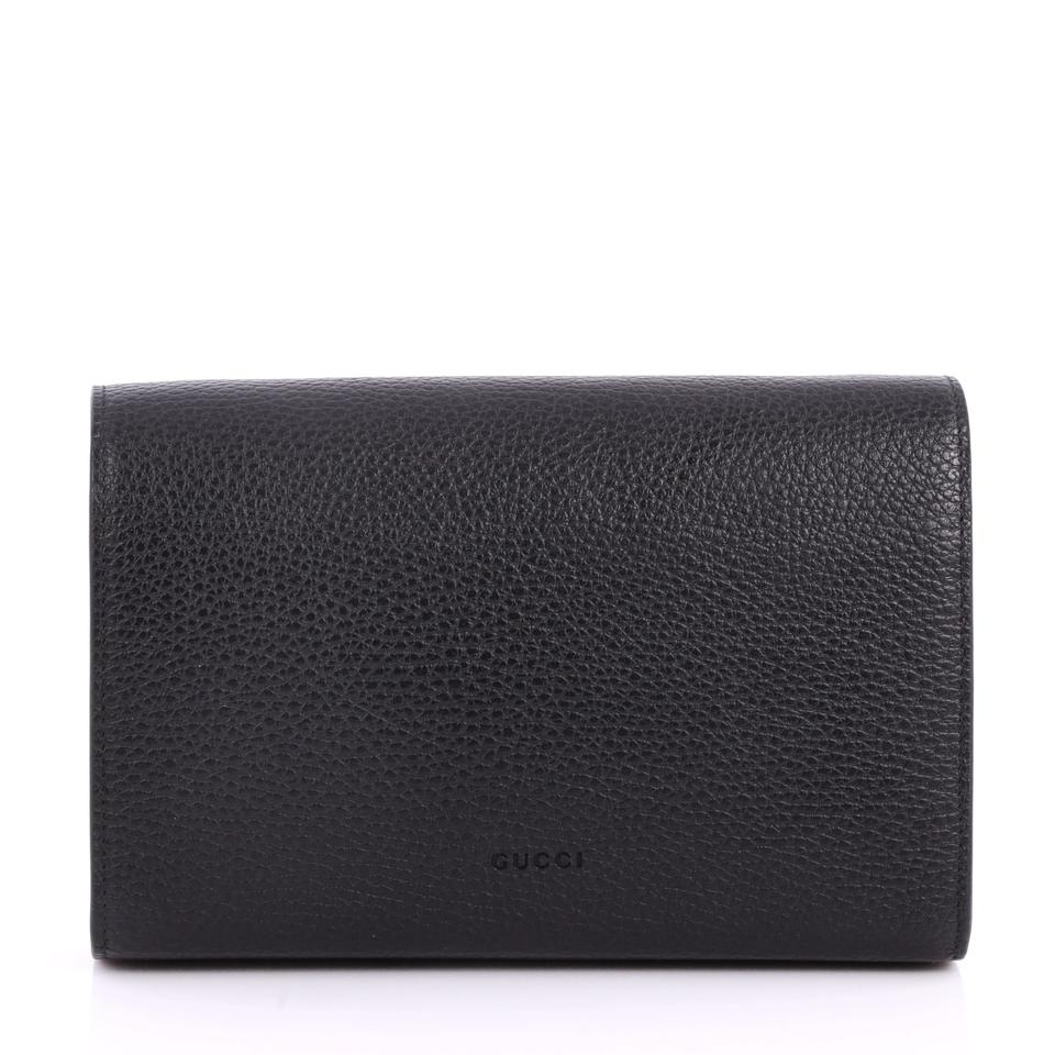 adf5cb12ef6 Gucci Chain Wallet Dionysus With Embellished Detail Small Black ...