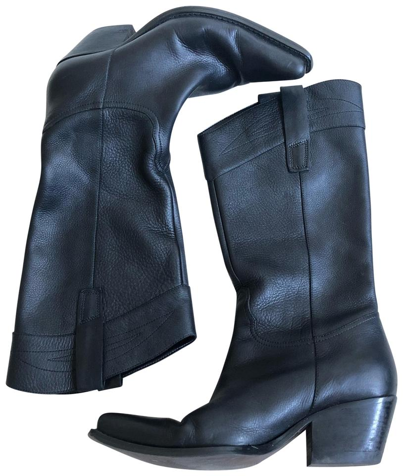 29d638402d9 Guess By Marciano Black  stable  Leather Pull Euc Boots Booties Size ...