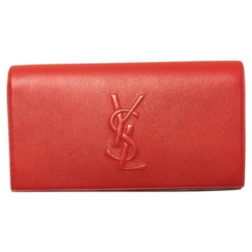 Clutch Red Laurent Clutch Saint Saint Classic Saint Laurent Clutch Red Classic Classic Laurent Red RqEwHdHS5