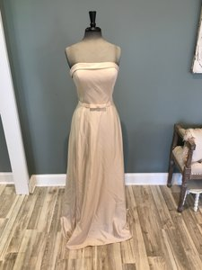 Allure Bridals Sand Satin Back Crepe 1558 Formal Bridesmaid/Mob Dress Size 10 (M)