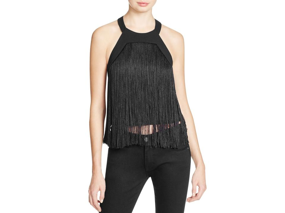 Retreat Fringe Night Halter Top Party Parker Out Black Cutout Tank gqxAwnnp51