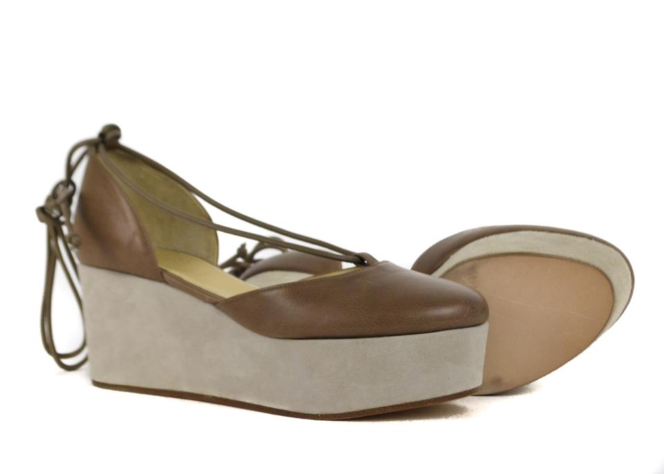 Brown Brunello Cucinelli Platforms Wedges Womens Leather HUTHq5wv