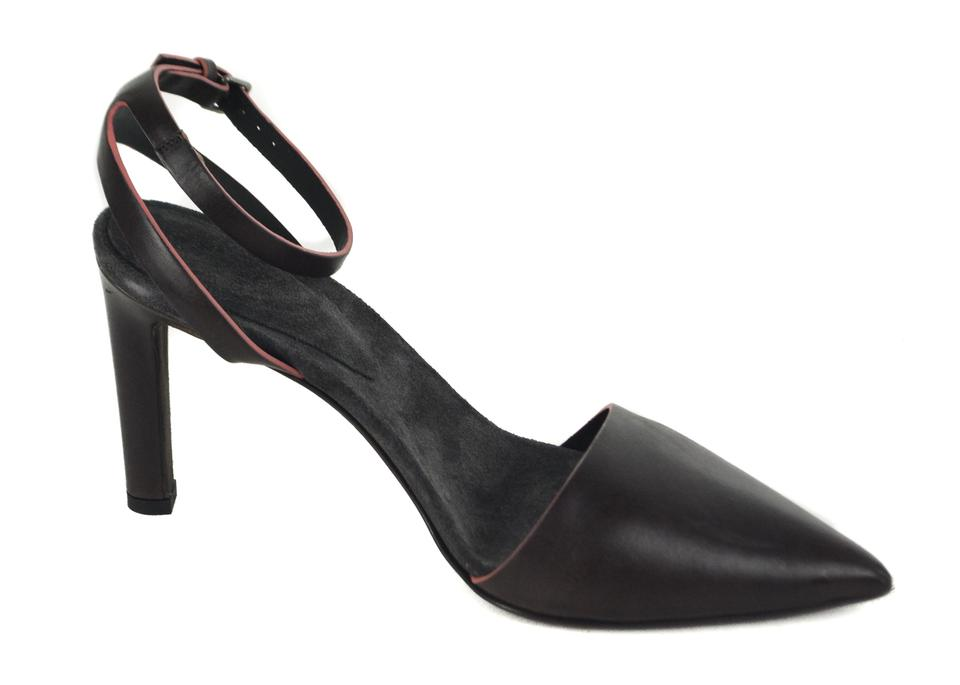 Pink Pumps Trimmed And Cucinelli Brunello Brown Ankle Strap OwqZtn0