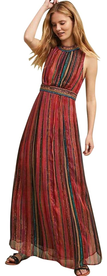 88cf95f26 Anthropologie Red Artista Maxi Long Cocktail Dress Size Petite 12 (L ...