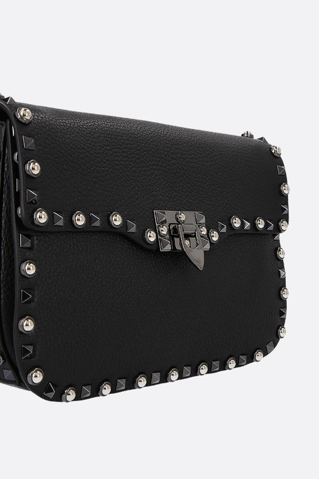 Valentino Guitar Strap Rockstud Bag Rolling Black Shoulder Leather f4wfAvr7nq