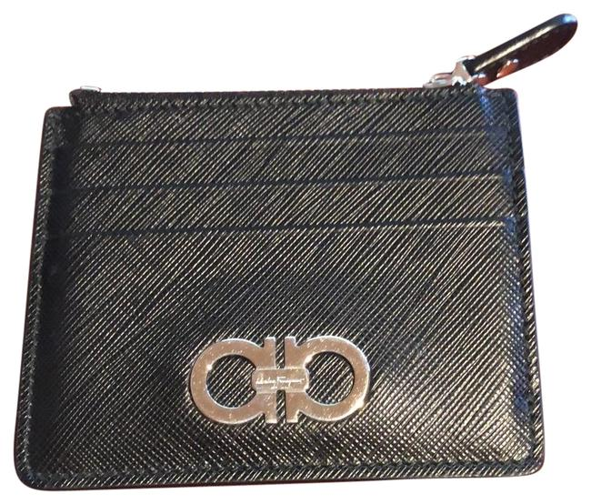 Item - Black W/Silver Color Accents Card and Coin Case Wallet
