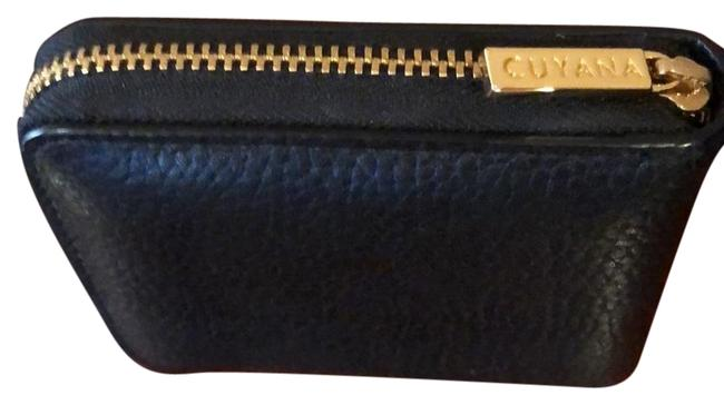 Item - Black with Gold Accents Mini Zip Around Wallet