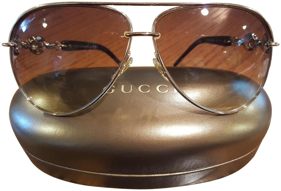 4943e58e981ba Gucci Gold Brown Gg4225 S Sunglasses - Tradesy