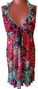 Kenneth Cole Floral Halter Swim Suit Cover Up Kenneth Cole Reaction Size S/M