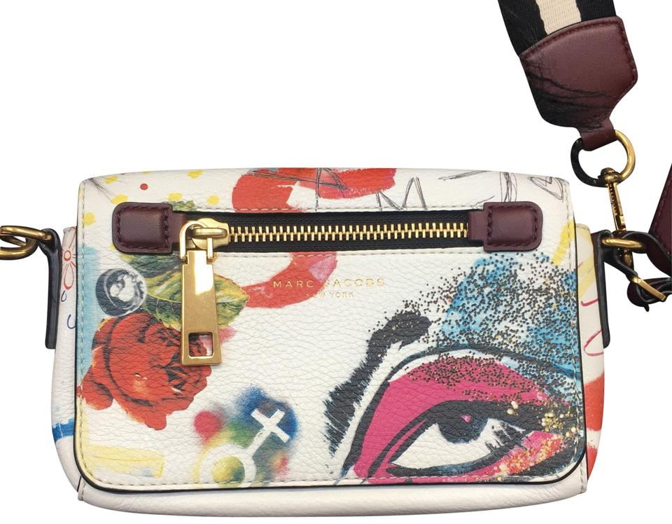 Marc Leather White Graffiti Cowhide Multicolor Body Collage Jacobs Bag Cross xww7qOcAZC