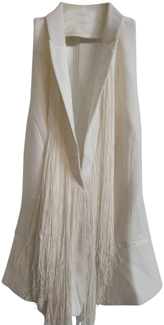 Item - Off White XS With Silk Frimge Vest Size 2 (XS)