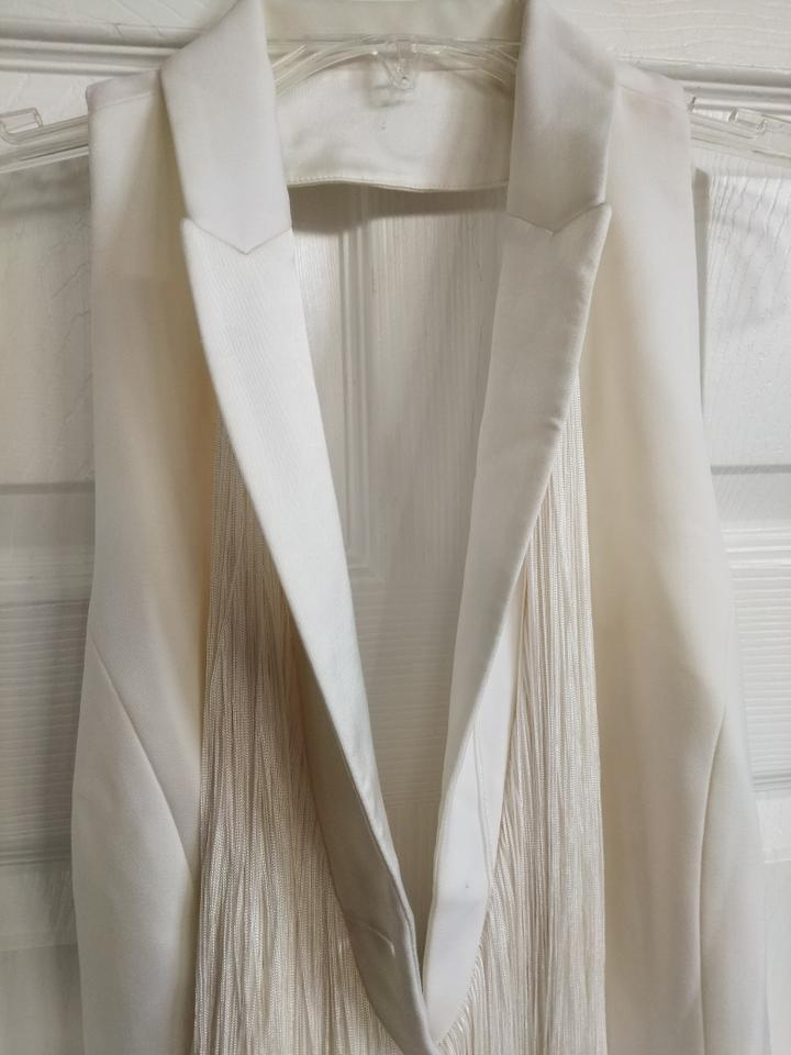 Silk White Frimge Off With Vest Bui Barbara HXwIxEa