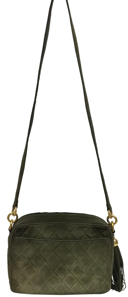 3301af5f2c13 Chanel Camera Vintage Quilted Olive Suede Cross Body Bag - Tradesy