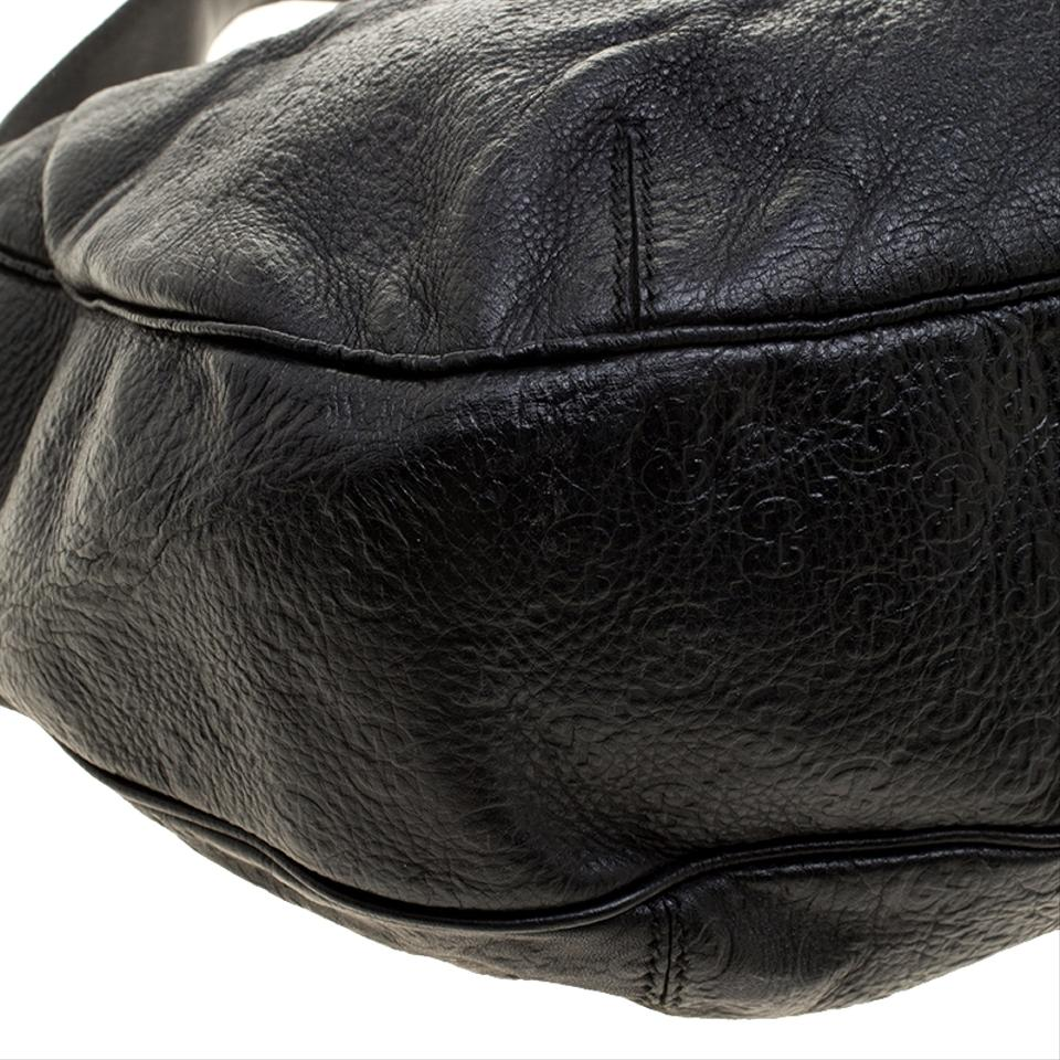 bcc56ee0d059 Gucci Guccissima Large New Ladies Vintage Web Black Leather Hobo Bag ...