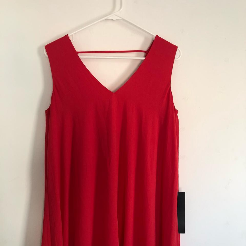 c4d0a6bdd28 BCBGMAXAZRIA Red Kaira Asymmetrical Layered Mid-length Night Out Dress Size  4 (S) - Tradesy