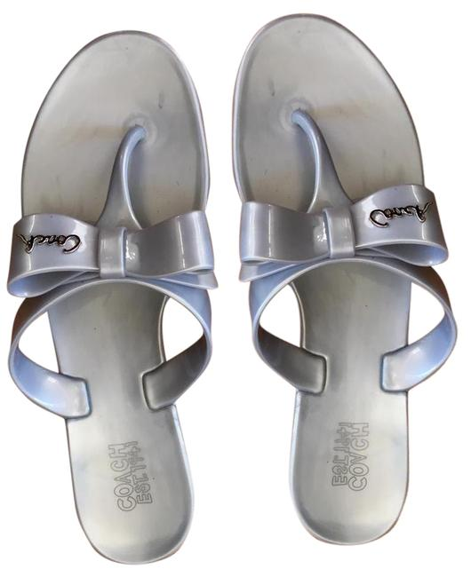 Coach Gray Jelly Pretty Bow Sandals Size US 6 Regular (M, B) Coach Gray Jelly Pretty Bow Sandals Size US 6 Regular (M, B) Image 1