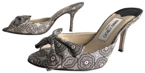 Jimmy Choo Floral Silver Sandals