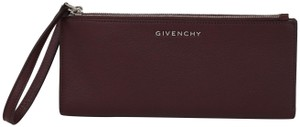 Givenchy Givenchy Pandora Long Double Zip Leather Wallet Clutch