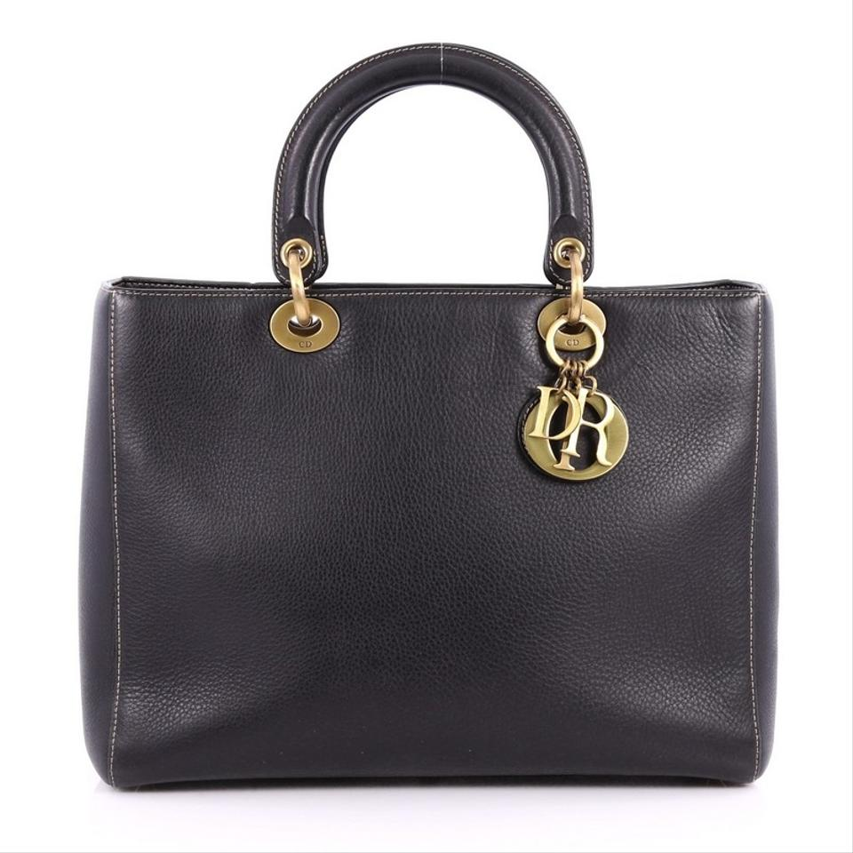 b66bf3ca63b9 Vintage Handbag Black Lady Dior Large Tote Leather Dior OEwgq1q ...