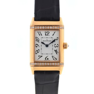 Jaeger-LeCoultre Jaeger Lecoultre 18k Rose Gold Reverso Duetto Diamonds Watch