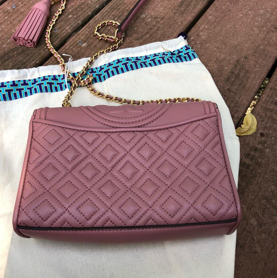 Body Bag Shoulder Cross Tory Convertible Pink Small Burch Dusty Leather C7nqSwF8z