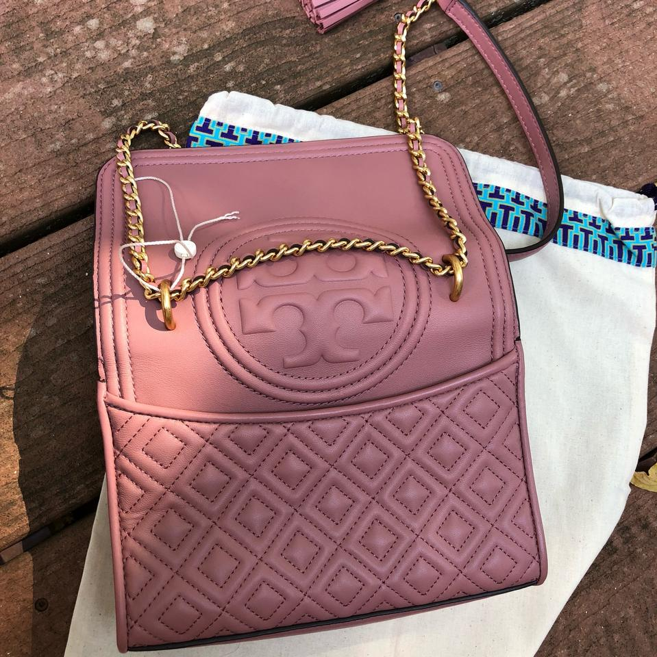 Bag Leather Dusty Body Shoulder Convertible Burch Pink Cross Small Tory wnRWaxAPx