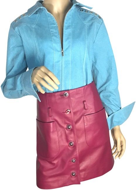 Item - Pink Leather Skirt Size 6 (S, 28)