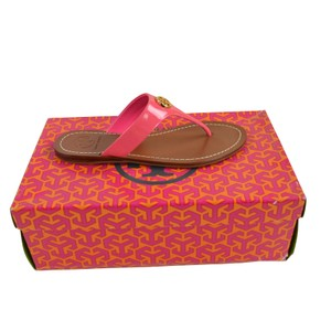 Tory Burch Cameron Thong Slip On 5 Bougainville Pink Sandals
