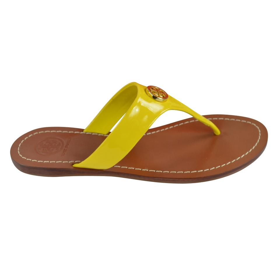 4dafd67513a8 Tory Burch Daisy Cameron Thong - Patent Calf Sandals Size US 5.5 ...