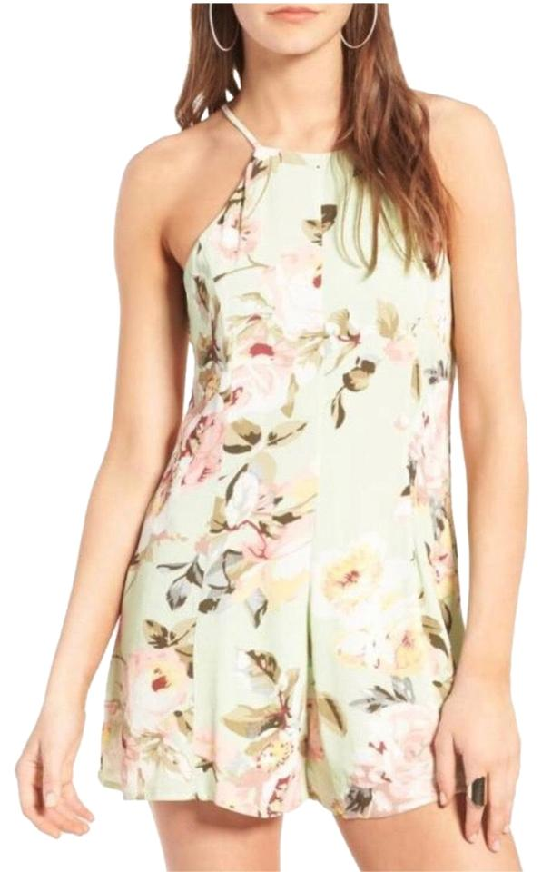 07d5c9ba33 Privacy Please Mint Green Lucca Floral Romper Jumpsuit - Tradesy