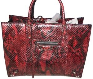 Balenciaga Satchel in red and black