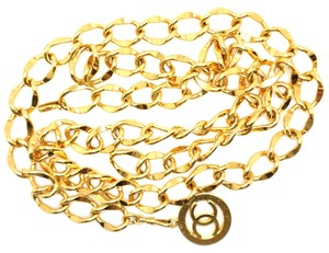 Chanel CC double chain gold long two way necklace belt