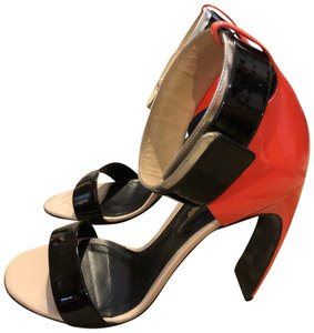 Nicholas Kirkwood black and orange Sandals