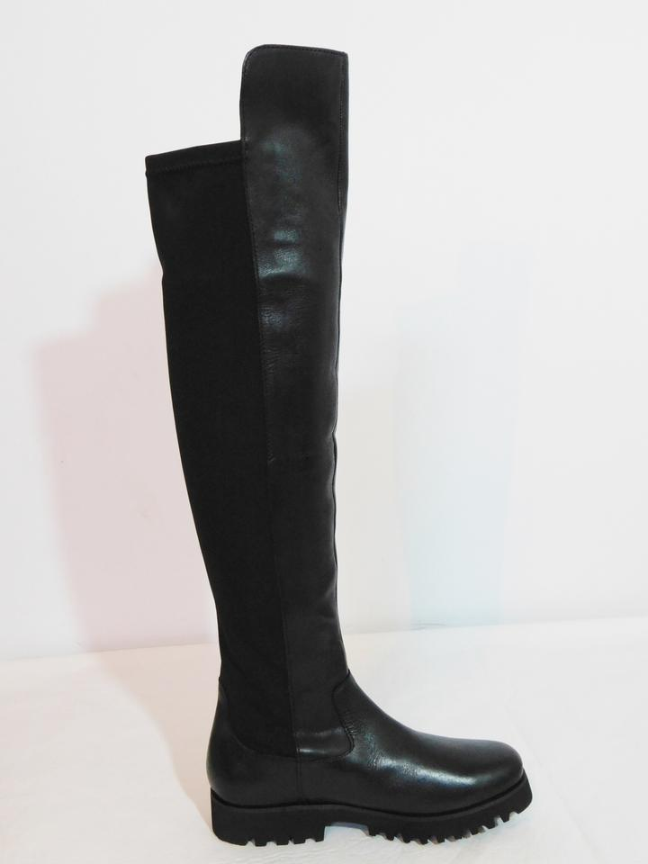 Donald Ronda J Over Boots Knee New Leather Black The Booties Pliner raOqwpr