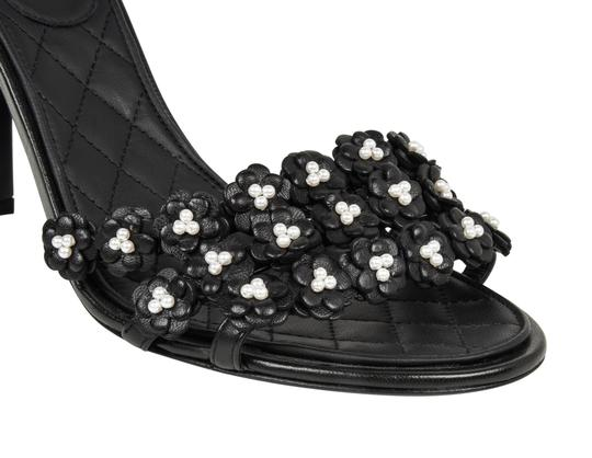 Chanel Heels Camellia Black Sandals Image 2