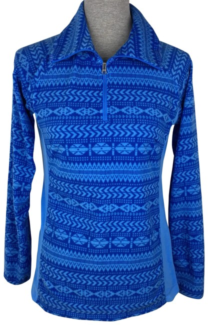 Preload https://img-static.tradesy.com/item/23705640/columbia-sportswear-company-blue-aztec-fleece-pullover-activewear-size-6-s-0-1-650-650.jpg