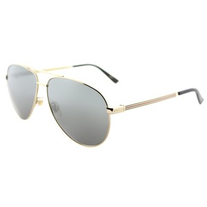 a73c1886d71 Gucci Gucci Sunglasses GG0137S 002 Gold Aviator with Grey Mirror Lens