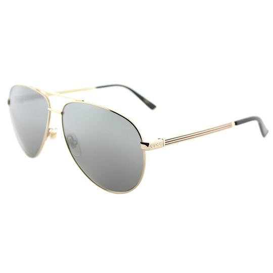 Gucci Gucci Sunglasses GG0137S 002 Gold Aviator with Grey Mirror Lens Image 3