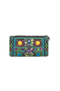 Edie Parker Embroidered Multi-Color Clutch