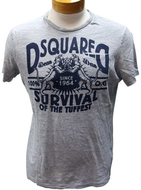 Preload https://img-static.tradesy.com/item/23705761/dsquared2-grey-and-navy-blue-l-dsq2-survival-of-the-tuffest-print-tee-shirt-size-14-l-0-2-650-650.jpg