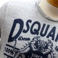Dsquared2 Blood Twins Dean Dan Year Of The Dog Vintage T Shirt Grey and Navy Blue Image 3