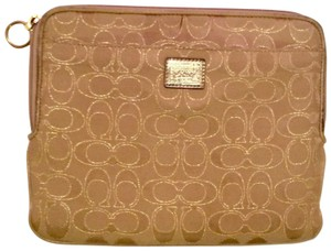 Coach Beige signature iPad tablet E reader padded case
