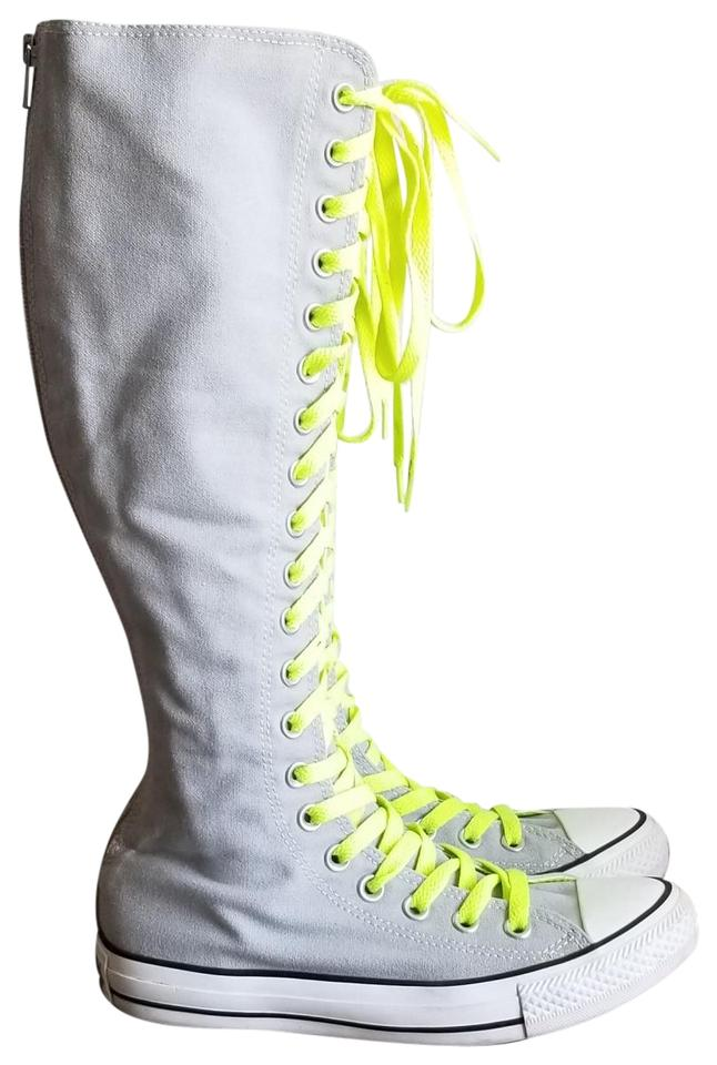 Gray All Star Knee High Boots/Booties