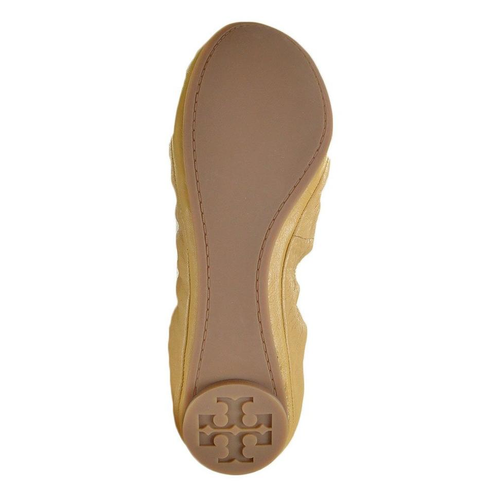 1fc64ed91bf2 Tory Burch Iced Coffee  Bleach Eddie Lambskin Leather Flats. Size  US ...